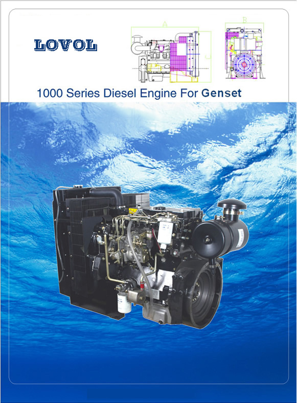 LOVOL 1000 series diesel engine for genset